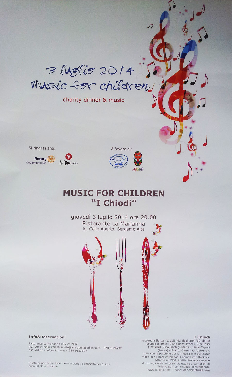 3 Luglio 2014 - Music For Children - Charity Dinner & Music